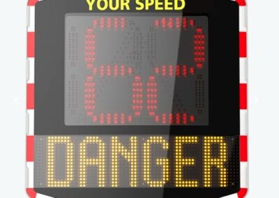 Snelheidsmeter DSI dynamische snelheidsindicator SMILEY